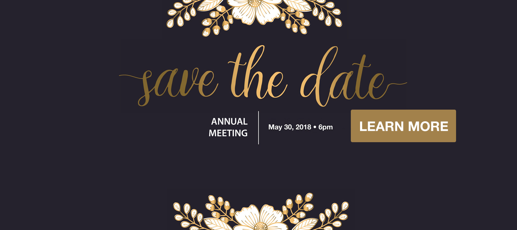 2018 Annual Meeting Save the Date