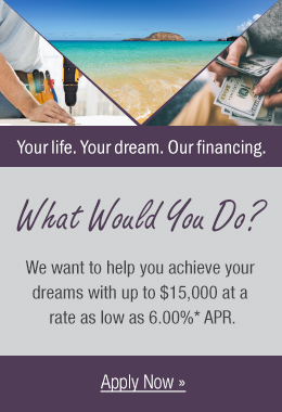 Personal loan promotion with rates as low as 6.00% APR